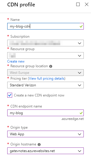 Create an Azure CDN